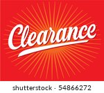 clearance sign vector lettering | Shutterstock .eps vector #54866272