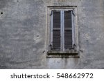 old brown window with closed...   Shutterstock . vector #548662972