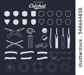cricket logo creation kit.... | Shutterstock .eps vector #548664838