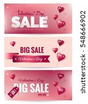 valentine's day sale banners... | Shutterstock .eps vector #548666902