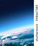 earth in the space. our home.... | Shutterstock . vector #548667385