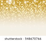 gold glitter particles and... | Shutterstock .eps vector #548670766