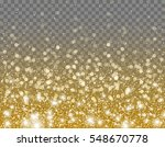 gold glitter particles and... | Shutterstock .eps vector #548670778