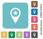 poi location white flat icons... | Shutterstock .eps vector #548674462