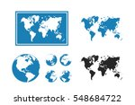world map illustration with... | Shutterstock .eps vector #548684722
