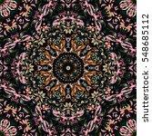 festival art seamless mandala... | Shutterstock .eps vector #548685112