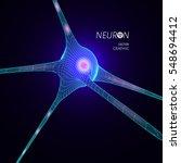 3d neuron model. vector graphic ...