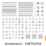 sacred geometry. set of minimal ... | Shutterstock .eps vector #548701942