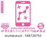 pink route smartphone pictogram ...   Shutterstock .eps vector #548720755