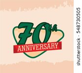 retro and vintage design 70th... | Shutterstock .eps vector #548730505