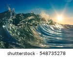 Colorful Clear Ocean Wave...