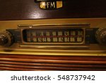 vintage radio buttons and tuner | Shutterstock . vector #548737942