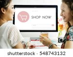 e commerce shop online homepage ... | Shutterstock . vector #548743132