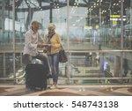 senior couple traveling airport ...   Shutterstock . vector #548743138