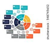 vector circular infographics....   Shutterstock .eps vector #548745652