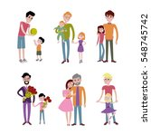 father and kids together... | Shutterstock .eps vector #548745742