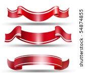 red labels. vector set labels   Shutterstock .eps vector #54874855