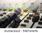 Double Exposure Of Microphone...