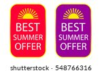 best summer offers stickers set | Shutterstock .eps vector #548766316