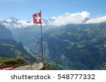 Lauterbrunnen Valley In The...