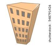 Building Icon. Cartoon...