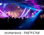 rock performance  enthusiastic... | Shutterstock . vector #548791768