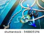 scuba diving and snorkeling.... | Shutterstock . vector #548805196