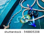 scuba diving and snorkeling.... | Shutterstock . vector #548805208