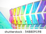 abstract dynamic interior with... | Shutterstock . vector #548809198