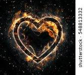 fire heart | Shutterstock . vector #548813332