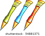 colorful pencils | Shutterstock .eps vector #54881371