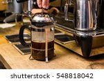 barista making non traditional... | Shutterstock . vector #548818042