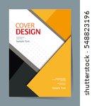 book cover design vector... | Shutterstock .eps vector #548823196