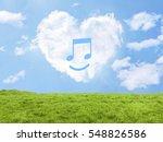 heart cloud field music | Shutterstock . vector #548826586
