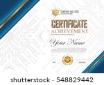 certificate to be elegant and... | Shutterstock .eps vector #548829442