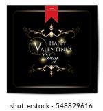 valentines day vintage... | Shutterstock .eps vector #548829616