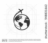 globe icon vector.