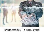 money in businessman hand and... | Shutterstock . vector #548831986