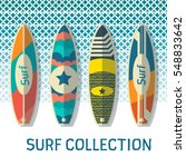 surf collection | Shutterstock .eps vector #548833642