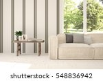 white room with sofa and green... | Shutterstock . vector #548836942