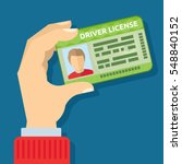 hand holding id card  car... | Shutterstock .eps vector #548840152