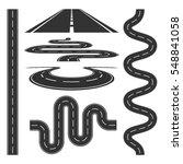 roads highways icons set... | Shutterstock .eps vector #548841058