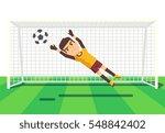 soccer goalkeeper catching a... | Shutterstock .eps vector #548842402