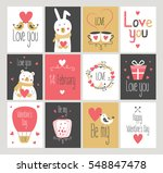 set love and romantic cards.... | Shutterstock .eps vector #548847478