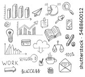hand drawn set of economic  smm ... | Shutterstock .eps vector #548860012