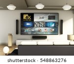 modern 4k smart tv room with... | Shutterstock . vector #548863276