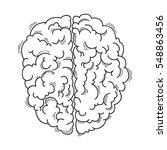 human brain for medical design | Shutterstock .eps vector #548863456