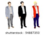 illustration of man in a suit.... | Shutterstock . vector #54887353