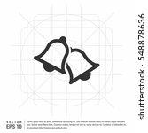ringing bell icon   | Shutterstock .eps vector #548878636