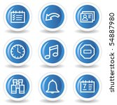 organizer web icons  blue... | Shutterstock .eps vector #54887980